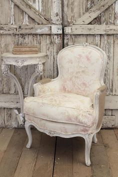 Vintage French Bergere Chair from Full Bloom Cottage