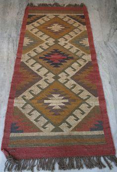 """Kilim Carpet Wool Jute Anatolia Vintage Turkish Rug Runner Kilim Area Rug30""""x72"""" #Turkish"""