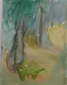 In the Forest Art by Sirkkaliisa Virtanen, watercolor Forest Art, Watercolor, Drawings, Painting, Abstract Art, Art, Watercolor Landscape, Gouache, Abstract
