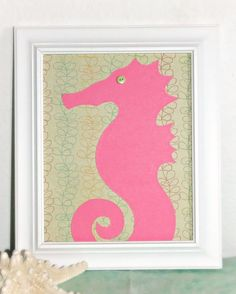 Mermaid Nursery Decor: Seahorse Ocean Wall Decor