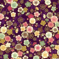 Japanese Import - Hyakka Ryoran Peacock - Blossoms - Purple/Gold