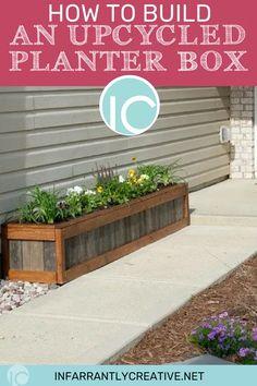 53 Easy & Creative DIY Planter Box Ideas for Your Home and Garden . 53 Easy & Creative DIY Planter Box Ideas for Your Home and Garden Long Planter Boxes, Raised Planter Boxes, Garden Planter Boxes, Wood Planter Box, Wooden Planters, Diy Planters, Planter Ideas, Container Garden, Pallet Planters