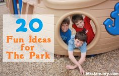 20 Ideas for the Park - Frugal Family Fun