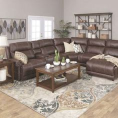 Brown Leather Couch Living Room, Grey And Brown Living Room, Living Room Decor Brown Couch, Living Room Ideas For Brown Furniture, Dark Brown Couch, Brown Brown, Furniture Ideas, Furniture Design, Paint Colors For Living Room