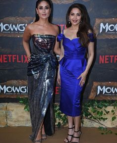 Andy Serkis ,Kareena , Madhuri Dixit , Abhishek Bachchan And Other Dazzle At World Premiere Of Netflix Mowgli - HungryBoo Bollywood Fashion, Bollywood Actress, Sharmila Tagore, Strapless Dress Formal, Formal Dresses, Kareena Kapoor Khan, Madhuri Dixit, Indian Celebrities, Traditional Outfits