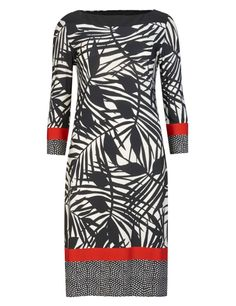 Palm Print Bordered Tunic Dress | M&S
