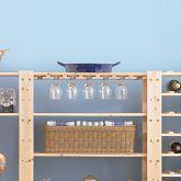 Stemware shelf to go with wine rack