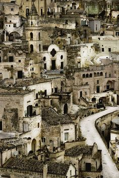 Matera, Italy we always get bread from here, it's so good it's famous all over Calabria as well