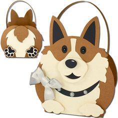 JMRush Designs: Corgi Dog Basket
