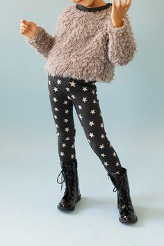 girls' |twinkle| star legging, shaggy top
