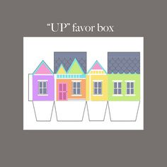 UP Birthday Party Favor Box, Disney Pixar Up party favor Birthday Party Favors, 2nd Birthday Parties, Boy Birthday, Disney Up, The Beast, Up The Movie, Up Pixar, Going Away Parties, Up Theme