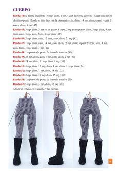 Crochet Dolls Free Patterns, Crochet Doll Pattern, Afghan Crochet Patterns, Amigurumi Patterns, Amigurumi Doll, Amigurumi For Beginners, Diy Crafts Crochet, Crochet Doll Clothes, Cute Plush
