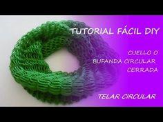 M Tutorial telar circular - cuello / bufanda circular cerrada - Fácil DIY - YouTube