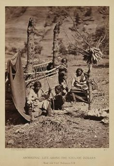 Navajo family near old Fort Defiance in New Mexico - 1873