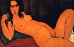 Amedeo Modigliani - Seated Nude (1917) - Google Search
