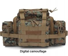 Utility MOLLE Tactical Waist Pack Pouch Military Camera Bag