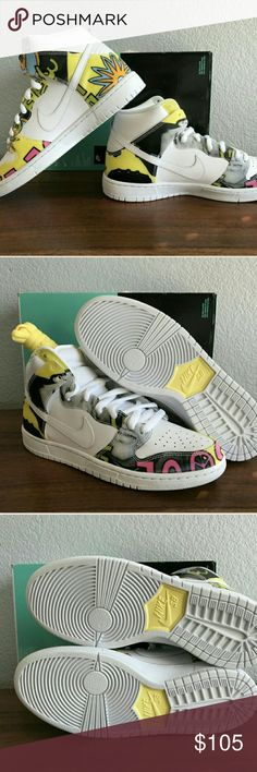 Nike SB dunk high premium De La Soul edition. Brand new, never worn. 100% authentic. Size 9.5. I've seen these shoes go for $120 used on ebay. Nike Shoes Sneakers