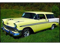 1956 Chevrolet Nomad in black and yellow--yummy, but over my $10,000 budget.  Opted for my beloved starchief.