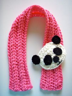 Crochet Panda Scarfette Scarf Pattern PDF by prettythings55