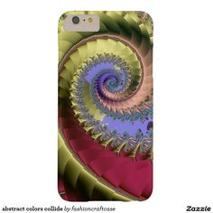 abstract colors collide barely there iPhone 6 plus case