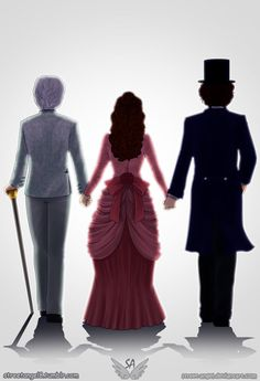Jem and Tessa and Will in a top hat! It's funny how the most intriguing thing about this pic is Will's top hat