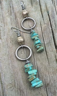 Silver and turquoise earrings, turquoise jewelry # earrings # jewelry # turquoise . - Silver and turquoise earrings, turquoise jewelry # earrings # jewelry – make - Bohemian Jewelry, Wire Jewelry, Jewelry Crafts, Silver Jewelry, Silver Ring, Gold Jewellery, Vintage Jewelry, Jewellery Shops, Jewelry Stores
