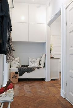 Ikea besta for the hall. Would anything slim fit on my hallway walls? Ikea just might have the thing I need. Interior, Home, Hallway Storage, Ikea, House Styles, Entryway Decor, Home Deco, Scandinavian Design, Small Hallways
