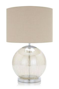 Buy Mink Crackle Large Table Lamp from the Next UK online shop