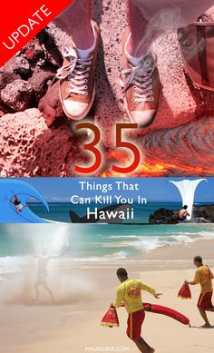 BEWARE!!!!!! Not only are there some pretty crazy ways to die on this list, but some of them are actually real. #hawaii #oahu #maui #Kauai Hawaii Surf, Kauai Hawaii, Hawaii Vacation, Oahu, Vacation Ideas, Travel Checklist, Packing Tips For Travel, Travel Essentials, Amazing Destinations