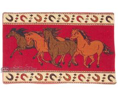 "Southwestern Tapestry Placemat 13""""x19"""" -Horses (tp2)"