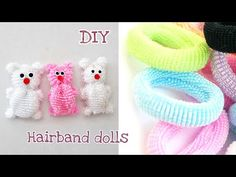 """Made this DIY tiny dolls out of hairbands , it's really easy to make Easy DIY dolls Easy diy dolls Easy diy dolls Video tutorial(My """"DIY Hairband doll tutorial"""" Diy Arts And Crafts, Crafts To Make, Easy Crafts, Kids Crafts, Diy Doll Easy, Easy Diy, Fun Diy, Tiny Dolls, New Dolls"""