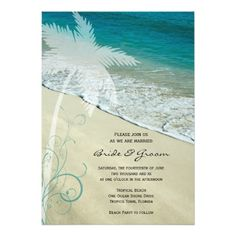 Discount Deals Tropical Beach Wedding Invitation today price drop and special promotion. Get The best buy