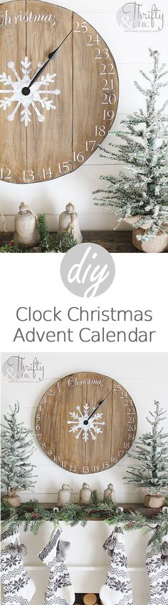 Count Down with an Advent Calendar Clock