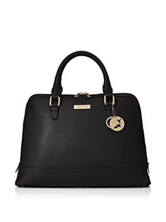 www.myhabit.com  Timeless satchel silhouette features a flat base with protective metal feet, inner zip and 2 slip pockets, removable medallion charm