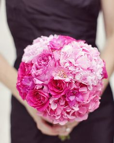 Pink Wedding Bouquets, Fuschia bridal bouquets: love the bouquet but I know the pink isn't the color