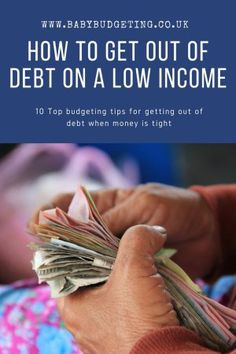 Budgeting Tips for low income families - How to get out of debt on a low income - simple and effective advice that really work Budgeting Finances, Budgeting Tips, Ways To Save Money, Money Saving Tips, Money Tips, Family Budget, Get Out Of Debt, Debt Payoff, Pay Debt