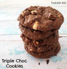 The Ultimate Triple Choc Cookies - Create Bake Make