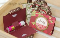 Chapstick in a paper purse. Cutest paper crafts and gifts. So FUN! Totally making these as party favors!