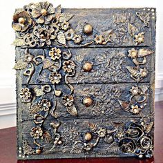Altered chest of drawers, mixed media , decoart paint,