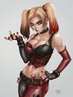 Harley Quinn - Arkham City by *dandonfuga on deviantART