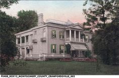 Crawfordsville Indiana, Exterior Design, Memories, Mansions, House Styles, Awesome, Places, Painting, Memoirs