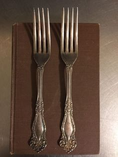 Silver Lunch Forks And Knives For 6 Persons Denmark 1951 12 Items