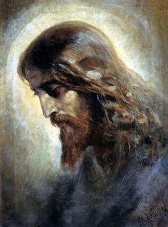 Thank you, Jesus. I love you, Jesus Christ. Catholic Art, Religious Art, Image Jesus, Beaux Arts Paris, Pictures Of Jesus Christ, Jesus Christus, Jesus Painting, Jesus Face, Les Religions