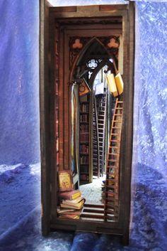 Alchemy library Diorama Bookshelf Insert | Etsy