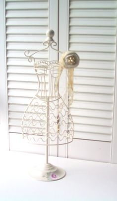Dress Form Cottage Chic Jewelry Stand Hand by SeasideRoseCreations,