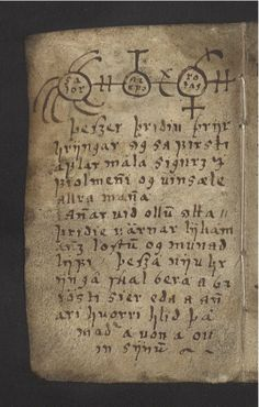 le vide grenier de didou: The 'Little Book Of Magic' is a seventeenth-century Icelandic manuscript