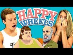 TEENS REACT TO HAPPY WHEELS - YouTube