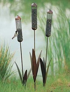 Cattail Feeder - I have these in on of my gardens