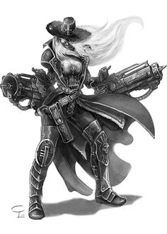 Xenos Inquisitor by Corbella on deviantART i think shes dual wielding conversion beamers...