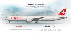 Boeing 777-300ER Swiss International Airlines HB-JNB | www.aviaposter.com | Airliners profile print | #airliners #aviation #jetliner #airplane #pilot #avia #airline Boeing 777, Boeing Aircraft, Airplane Drawing, Swiss Air, Airline Logo, Airplane Photography, International Airlines, Liner, Commercial Aircraft